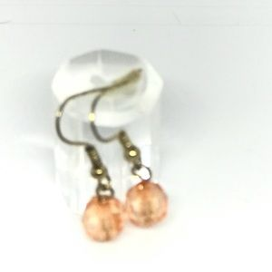 Coral Colored hanging Earrings
